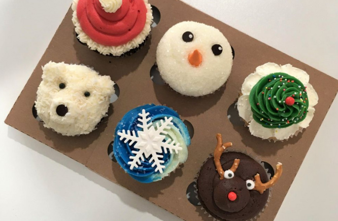 Try our new Holiday cupcakes!