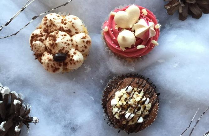 Essayez notre collection de cupcakes d'hiver en boutique et en ligne dès maintenant!