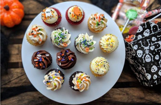 Nos minis cupcakes aux couleurs de l'Halloween