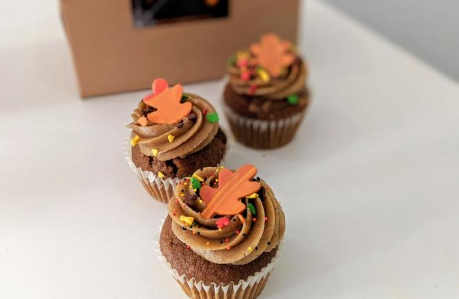 Fall's best is here... spiced pumpkin cupcake!