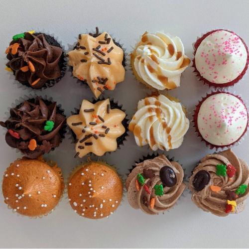 12 mini cupcakes - Automne