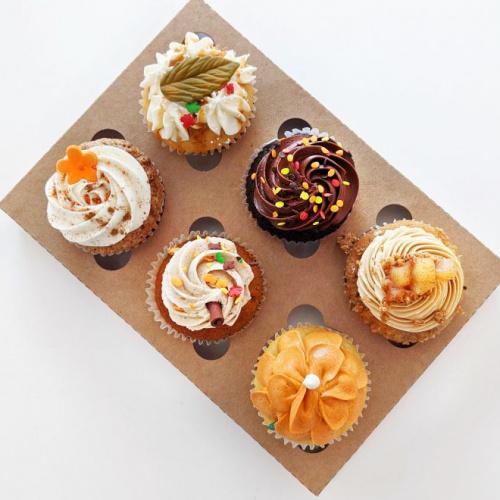 Box of 6 autumn cupcakes