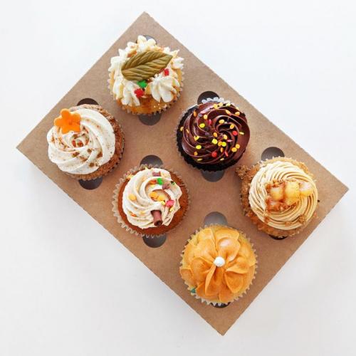 Boite 6 cupcakes d'automne