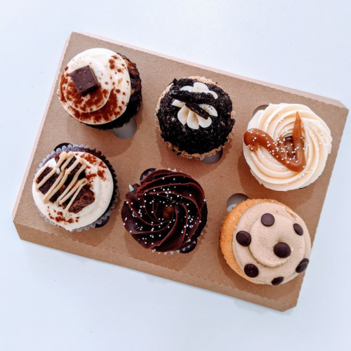 Boite 6 cupcakes saveurs décadentes