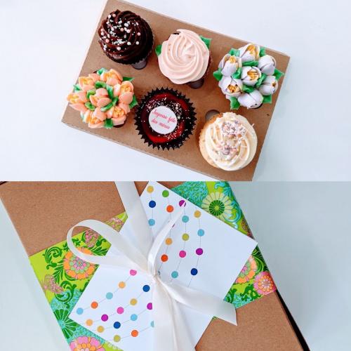 Boite cadeau Fêtes des mères - 6 cupcakes
