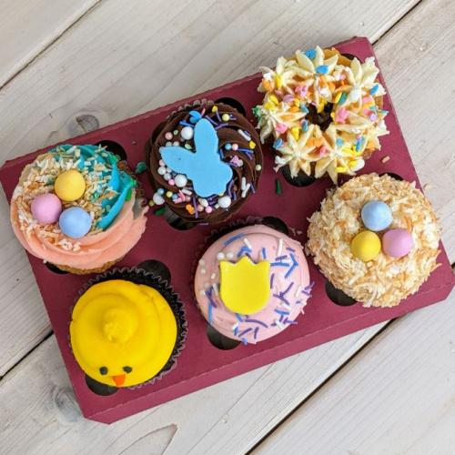 Boîte de Pâques - 6 cupcakes
