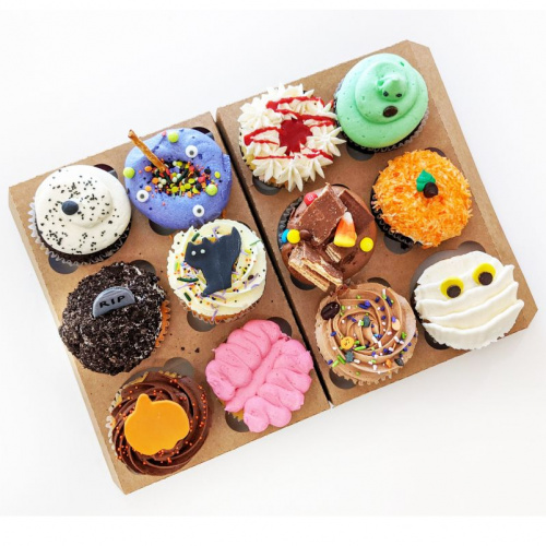Boîte Halloween - 12 cupcakes