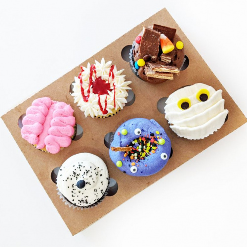 Boîte Halloween - 6 cupcakes