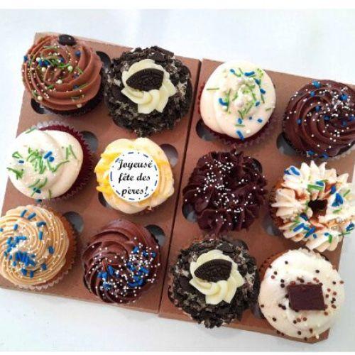 Boîte pour la Fête des Pères - 12 cupcakes