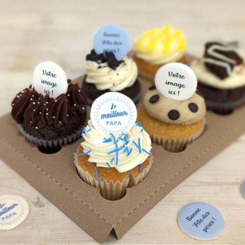 Boîte pour la Fête des Pères - 6 cupcakes