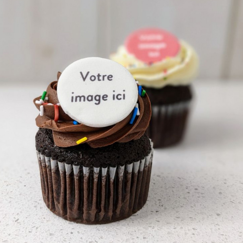 Cupcake with edible print