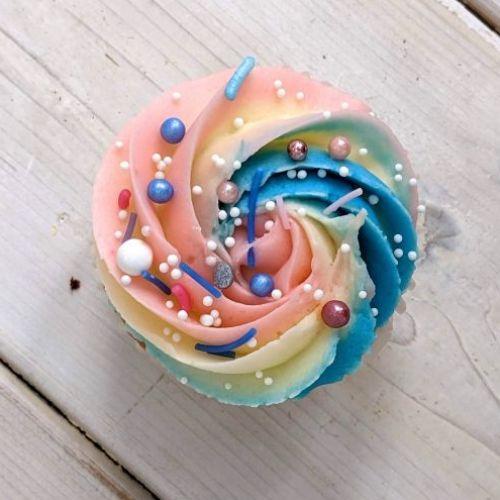 Baby Reveal Cupcake