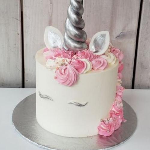 Gâteau Licorne argentée 12 à 15 portions