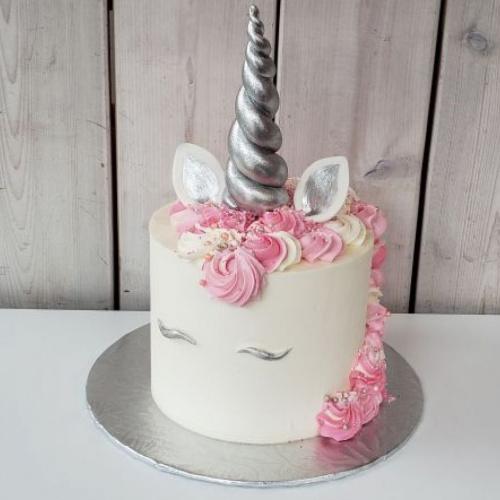 Gâteau Licorne argentée 2 à 4 portions