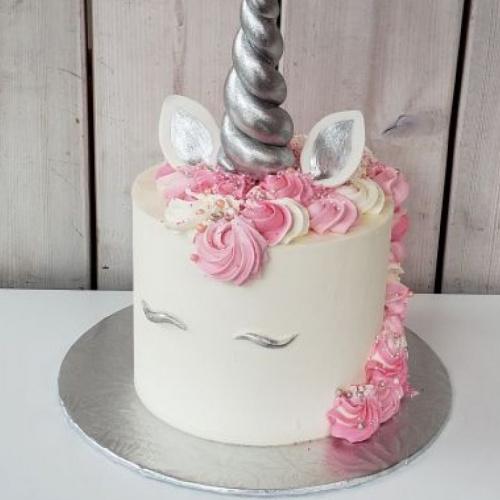 Gâteau Licorne argentée 6 à 8 portions