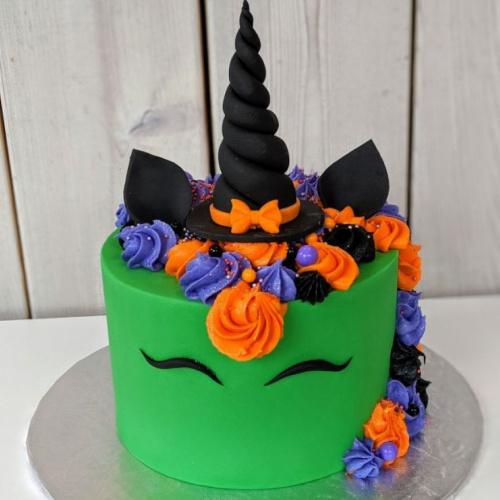 Gâteau licorne sorcière
