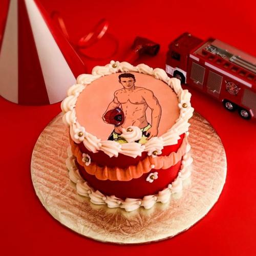 Sexy Fireman Cake - 4 servings