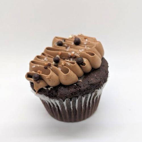 Half-baked chocolate cake